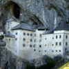 Unusual Predjama Castle --built into the mouth of a cave and with many hidden cave entrances