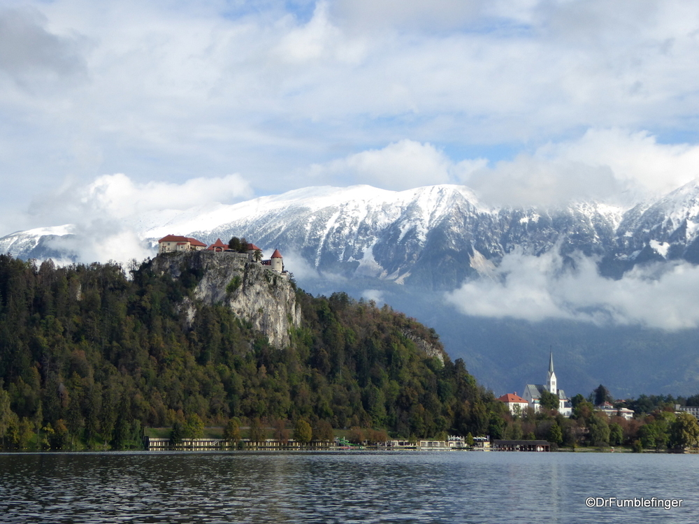 Castle Bled as it overlooks the town and Lake Bled