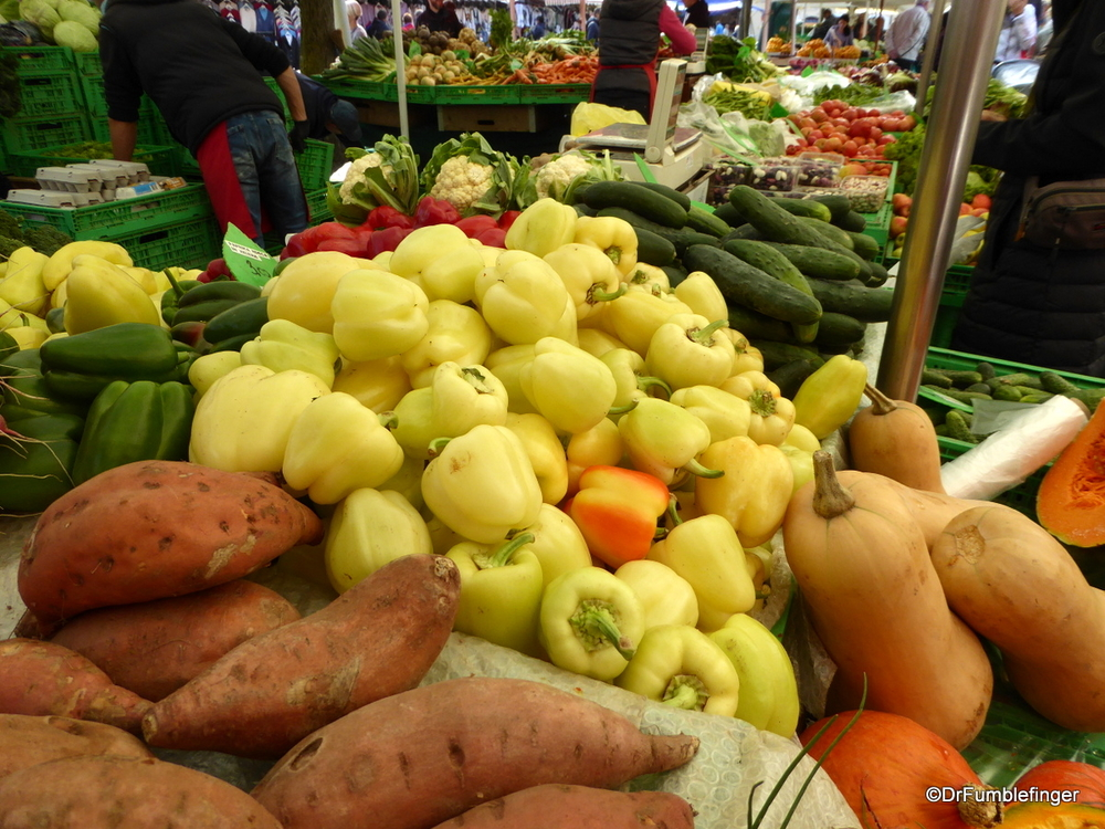 Wonderful fresh produce at the Central Market, Ljubljana