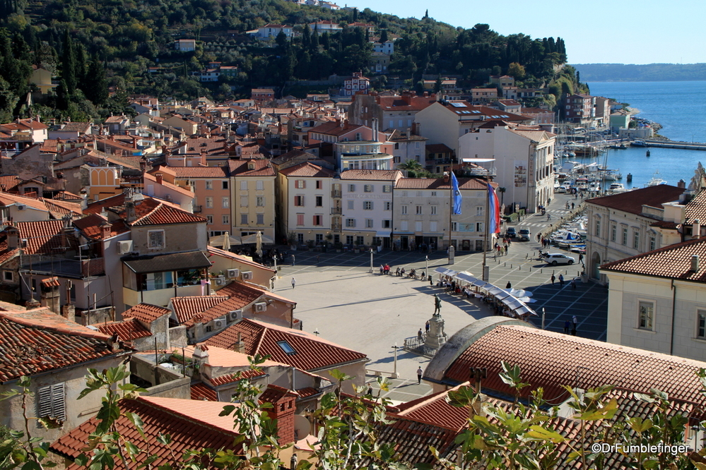 Portion of the Town Square and Harbor of Piran