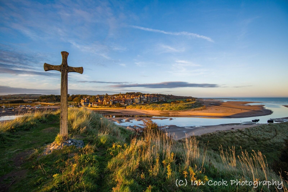 Alnmouth Northumberland at sunset.