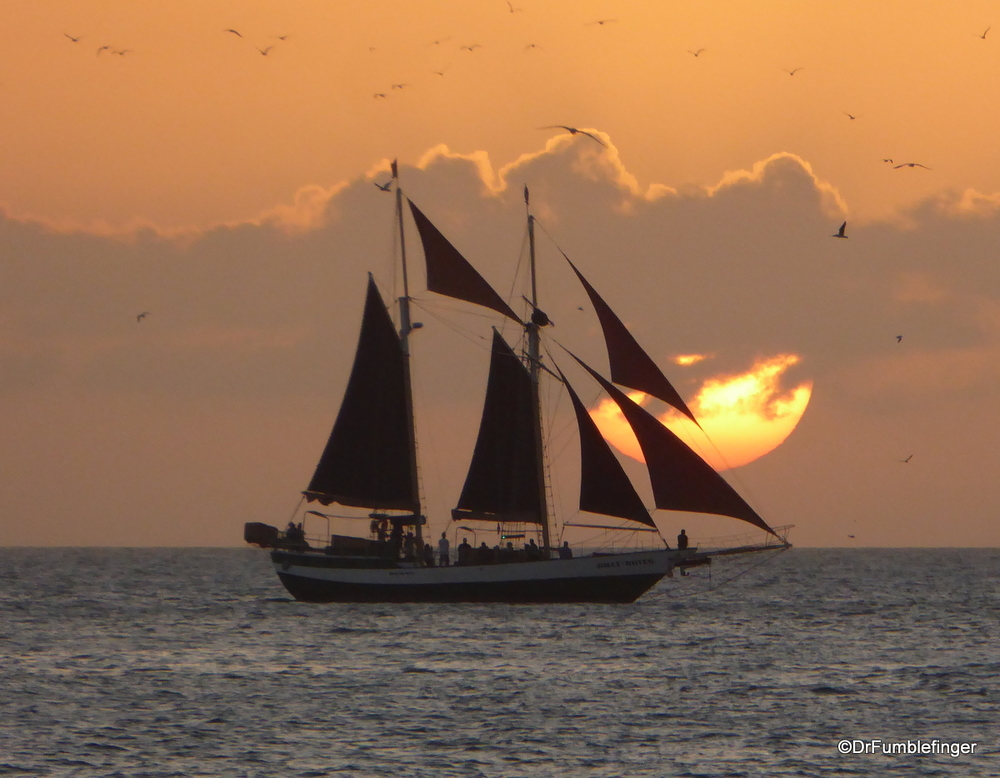 Sailing into the sunset, Key West