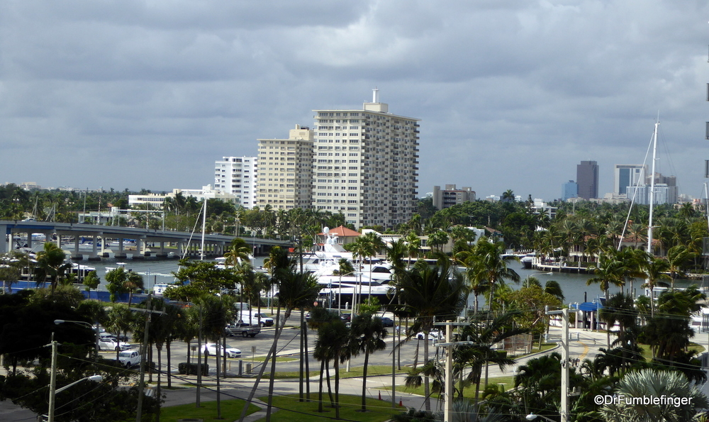 A typical view of a southern Florida coastal scene, this one in Fort Lauderdale