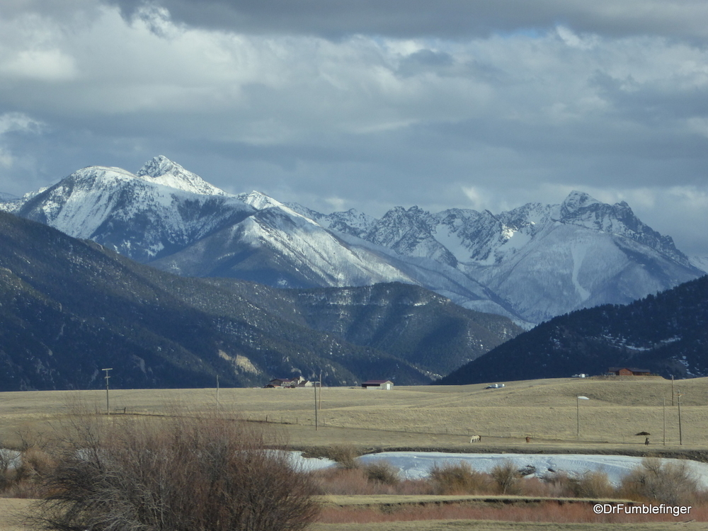 Lovely mountains near Bozeman, Montana