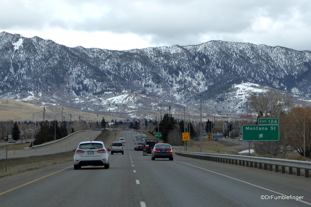 Lots of snow left on the mountains surrounding Butte