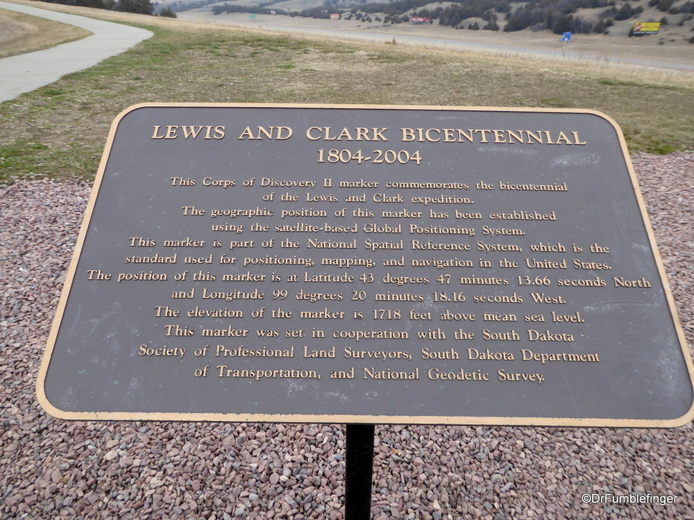 Lewis and Clark plaque, South Dakota
