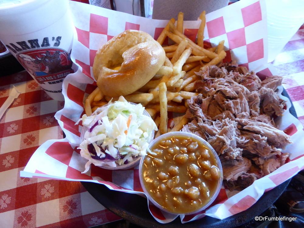 Danna's BBQ, pulled pork, Branson
