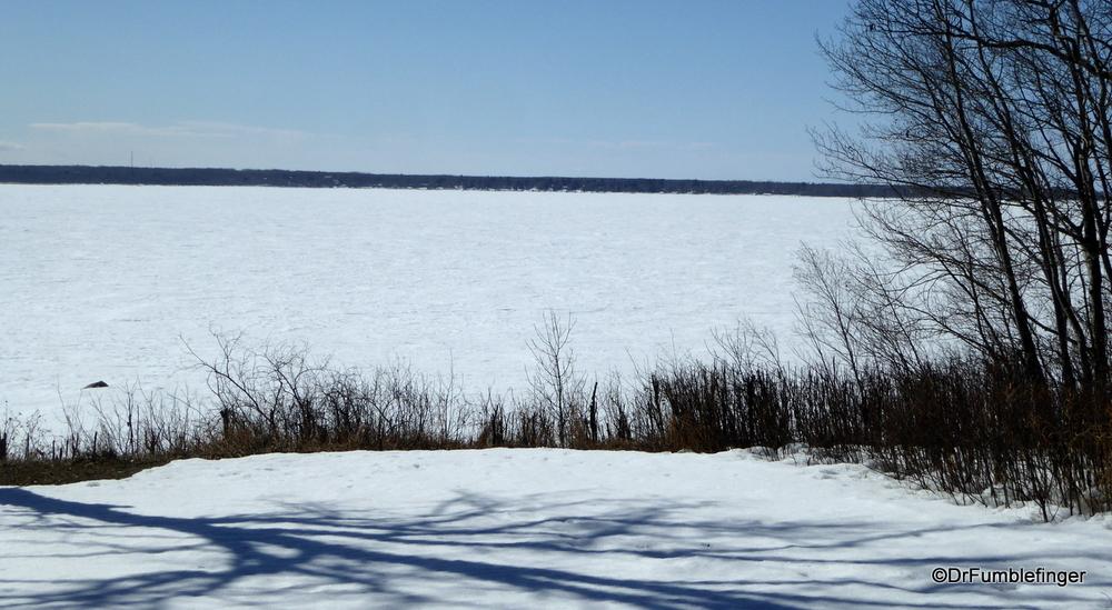 Lake Winnipeg is still frozen solid