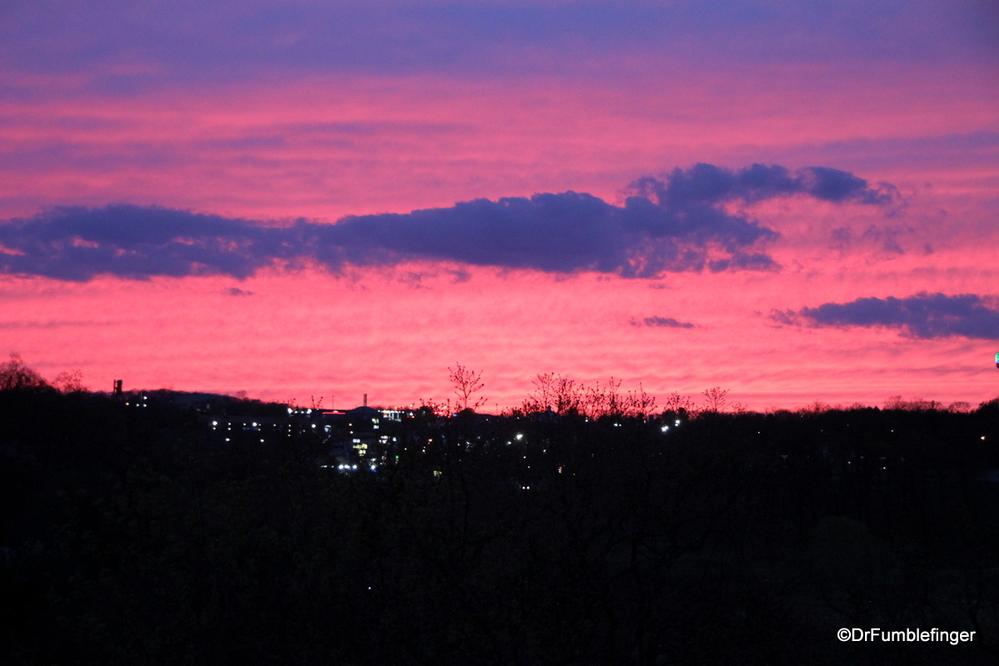 Sunset over Branson