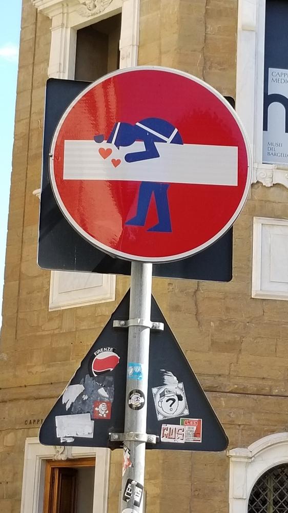Florence Traffic Sign fun