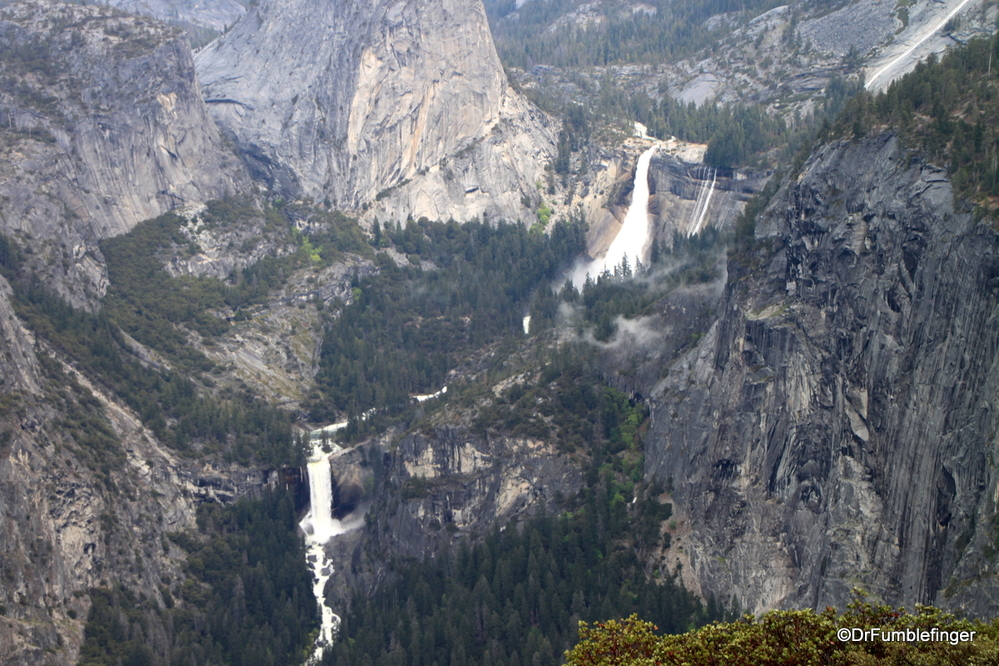 The Merced River spilling over Nevada and Vernal Falls, Yosemite National Park