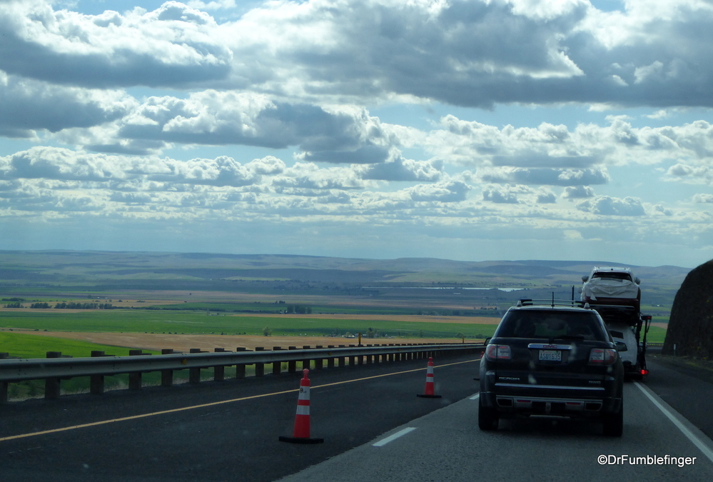 Traveling down Deadman Pass, Oregon