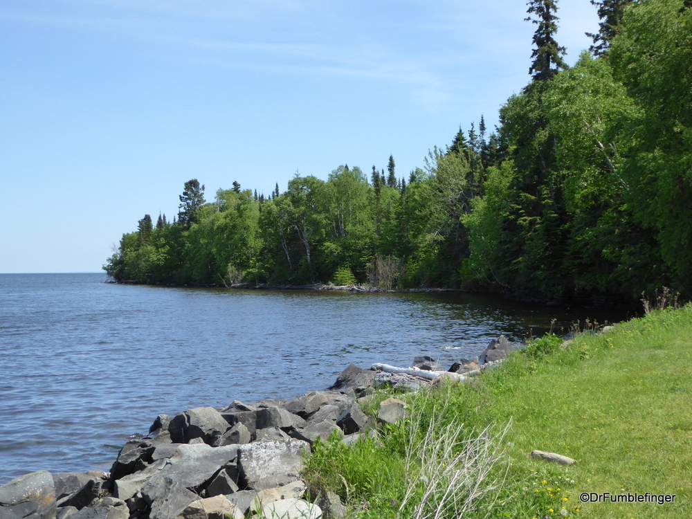 The shore of Lake Superior in Thunder Bay