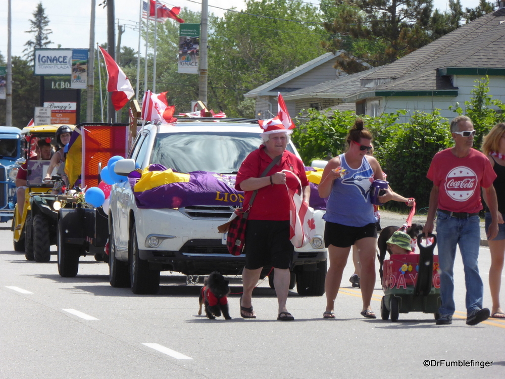 Canada Day Parade in Ignace, Ontario