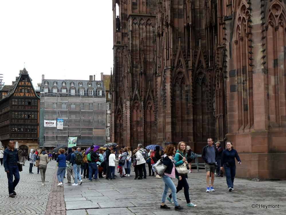 Waiting in the Rain, Strasbourg Cathedral