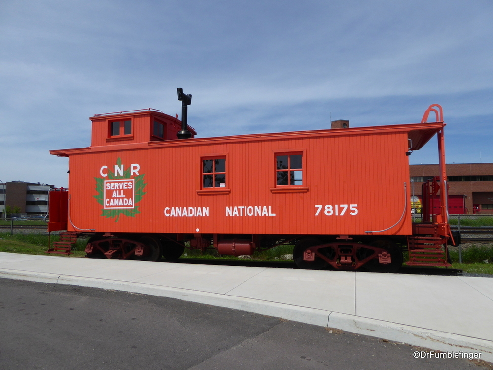 Refurbished caboose, Thunder Bay