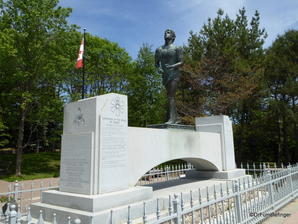 A true hero!  The Terry Fox Memorial, Thunder Baby