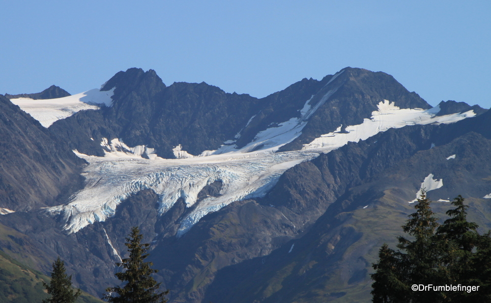 Our sighting of a glacier in Alaska, with many more to follow.  Cook Inlet