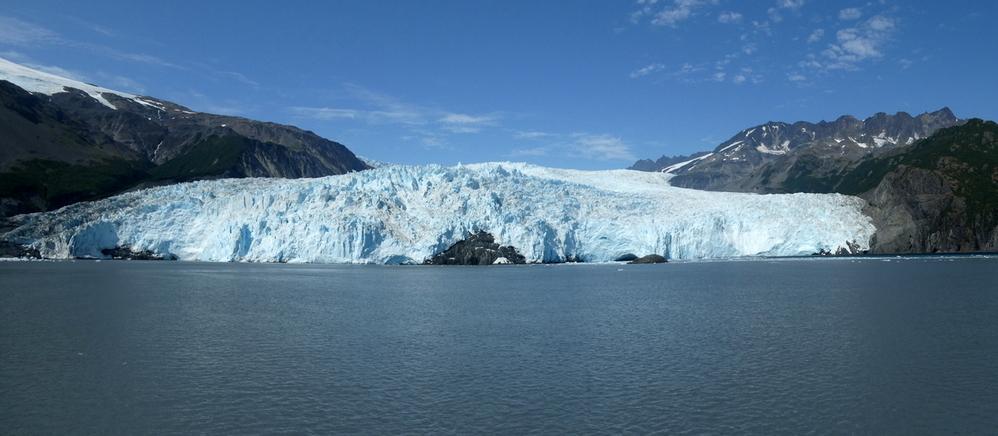 Aialak Glacier near Seward has a 2 mile tidewater interface