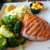 Grilled salmon, Ray's Restaurant, Seward