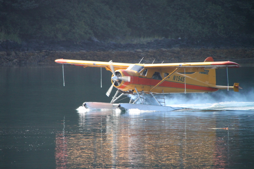 Catching a seaplane from Kodiak to Katmai National Park