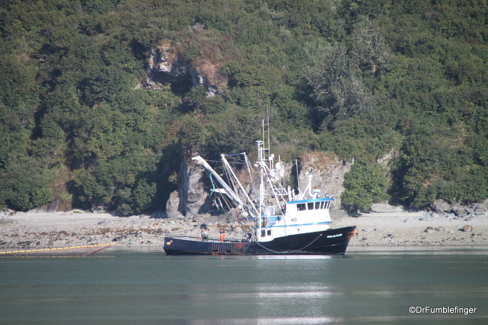Commercial salmon fishing boat, Kukak Bay