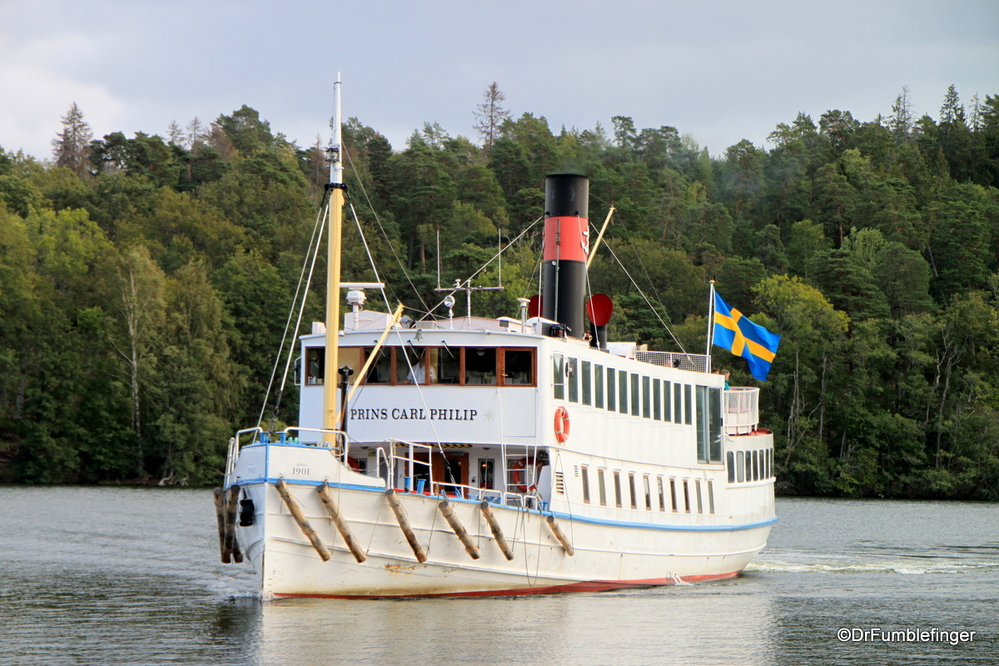 Took this old steamboat through the Stockholm Archipelago to Drottningholm.
