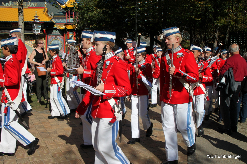 Everyone enjoys a marching band, this one at Tivoli Park in Copenhagen