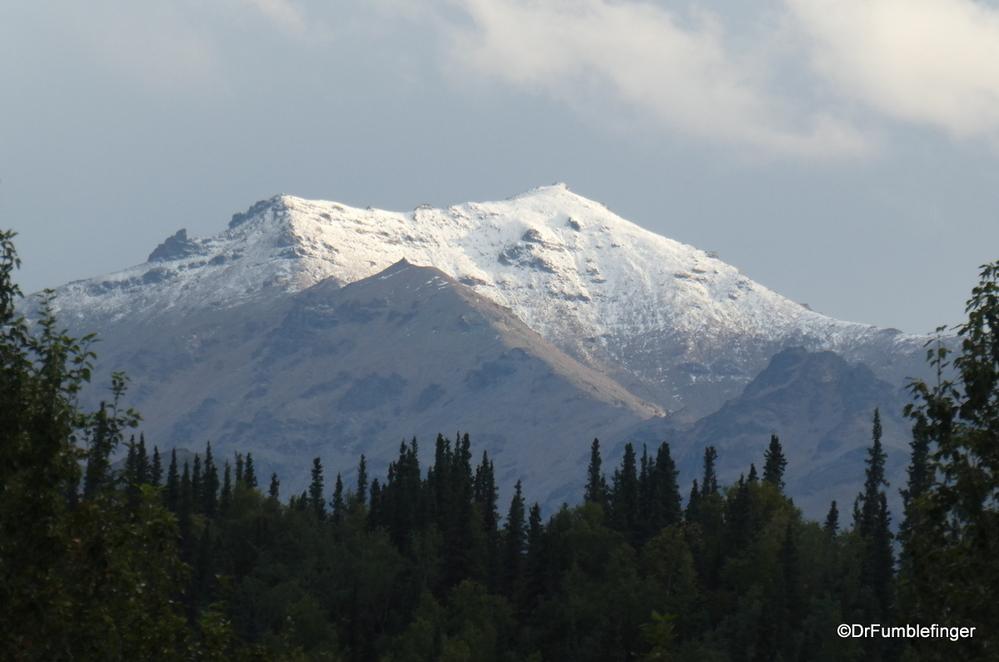 Fresh snow on the Alaska Range, Denali National Park