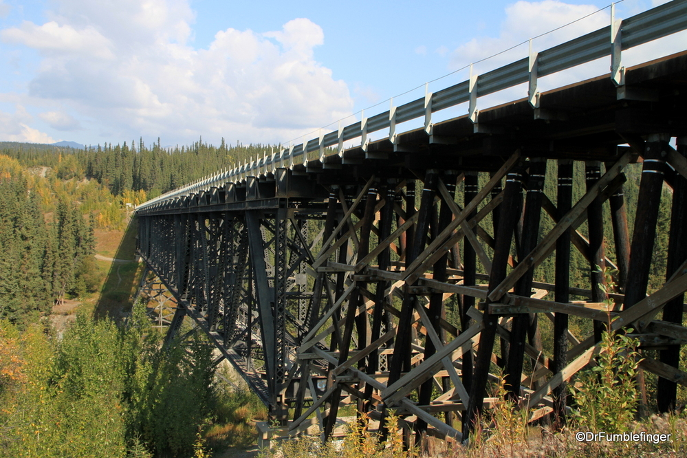 Kuskulana River Bridge, crossed on the road to McCarthy, Wrangell-St. Elias National Park