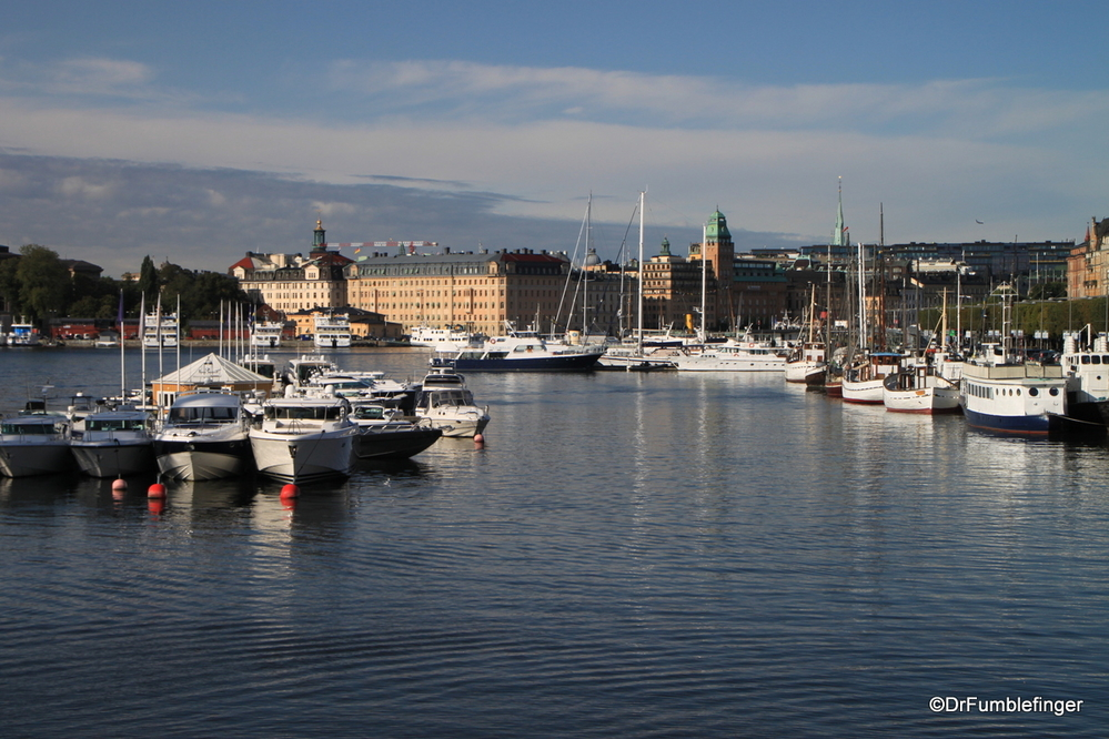 Stockholm is a city of islands, so there's lots of boats and shoreline