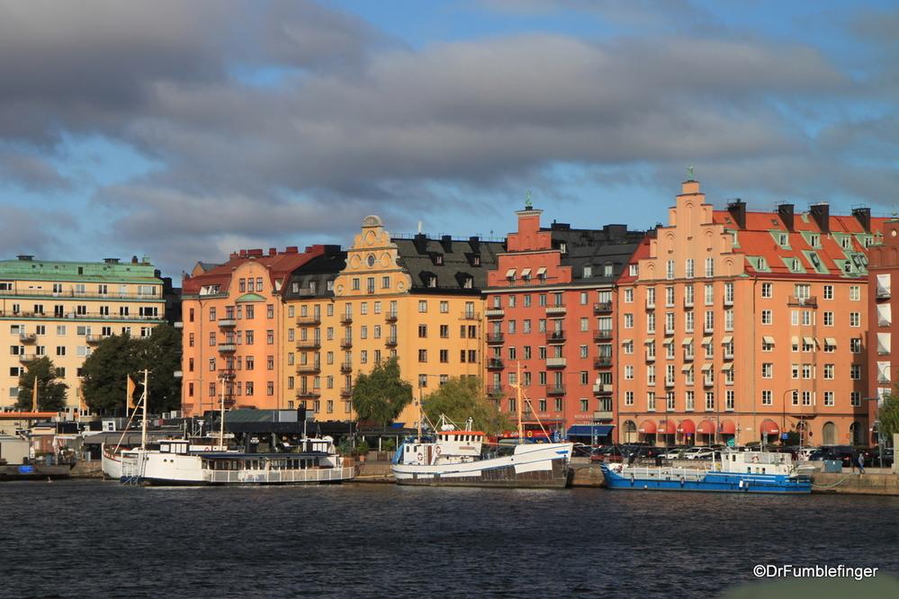 Lovely buildings along Norr Malarstrand, Stockholm