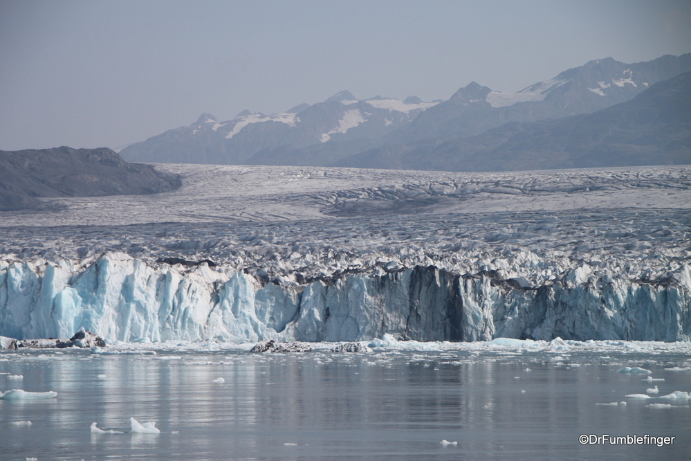 Columbia Glacier near Valdez is one of the country's largest tidewater glaciers