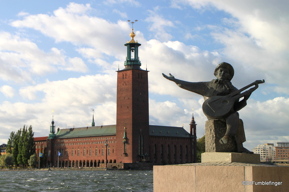 Stockholm City Hall, viewed from Ridderholmen