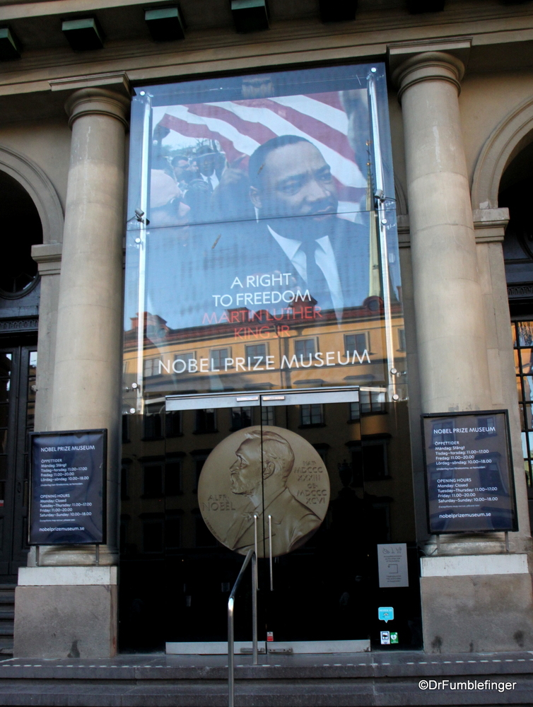 The Nobel Prize Museum entrance, Stockholm
