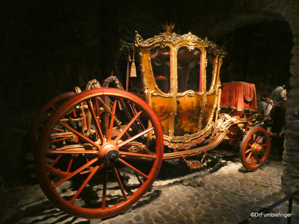 A fascinating collection of Royal Carriages at the Armoury Museum in the Royal Palace complex, Stockholm