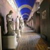 Just one of many corridors of art at the interesting Thorvaldsens Museum, Copenhagen