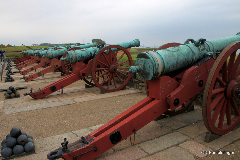 Cannons at Kronberg Castle in Helsingor