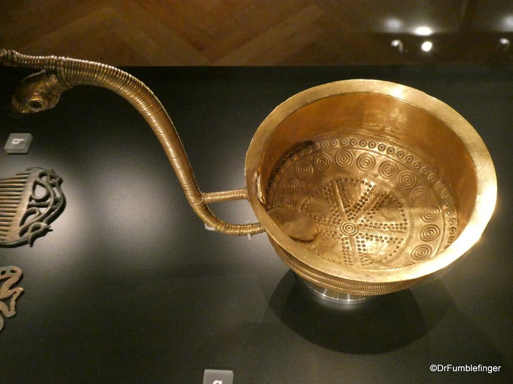 Gold bowl, circa 1100 BC, National Museum, Copenhagen
