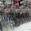 Multilevel bike parking facility at Helsingor Train Station