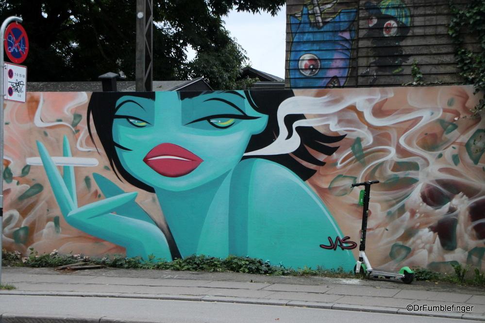 Some great street art in Christiania region of Copenhagen