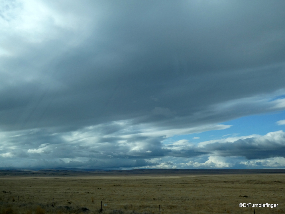 Approaching snow storm, eastern Oregon