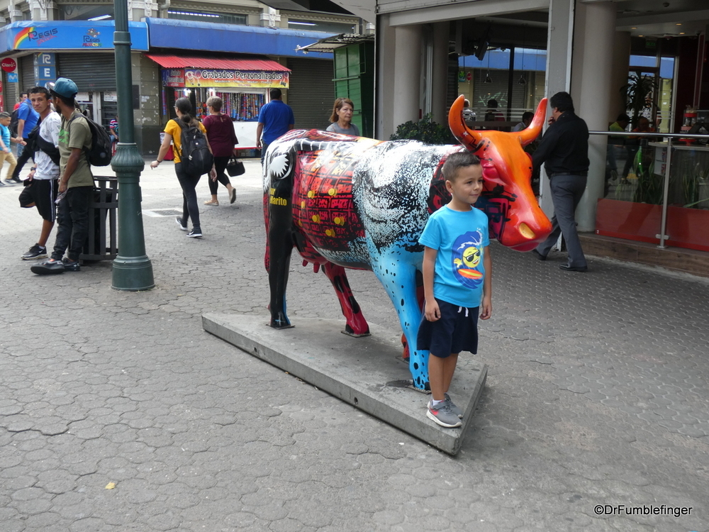 A colorful Ox on the streets of San Jose