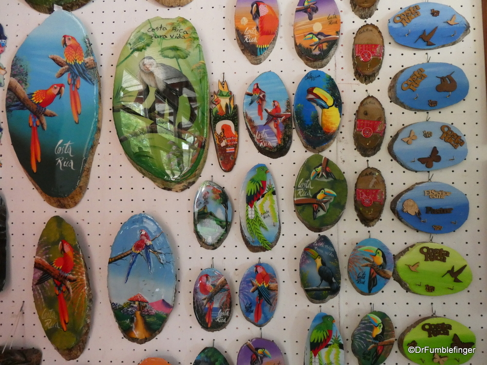 Samples of souvenirs, Costa Rica gift shop