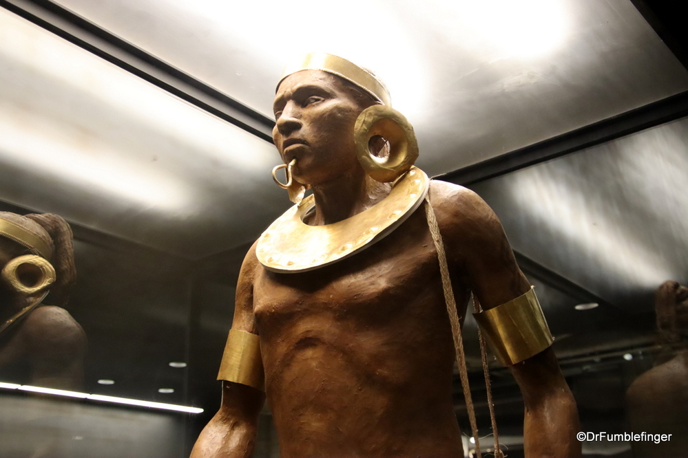 Gold ornamentation in a warrior, PreColumbia Gold Museum, San Jose, Costa Rica