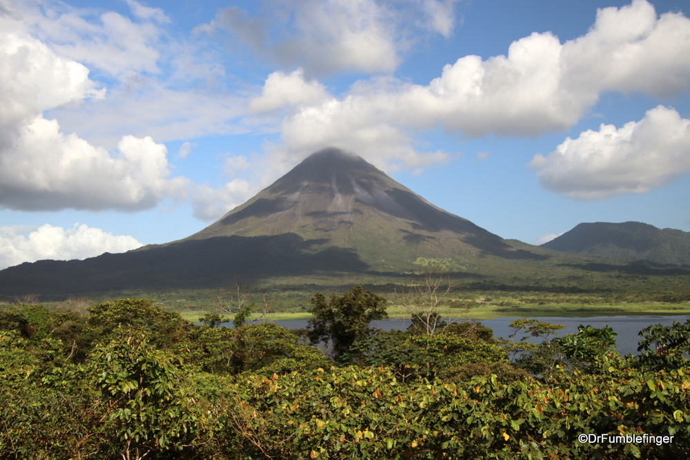 Arenal volcano viewed from a hike in Arenal National Park, Costa Rica