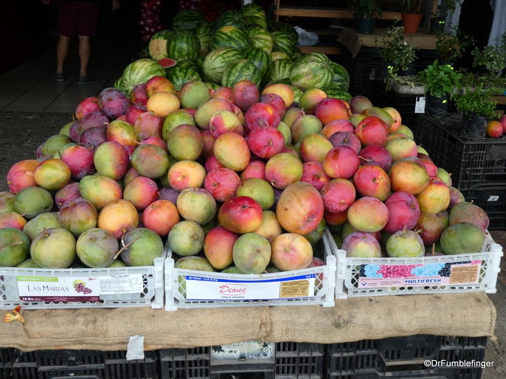 Fresh Mangos at the market in La Fortuna, Costa Rica