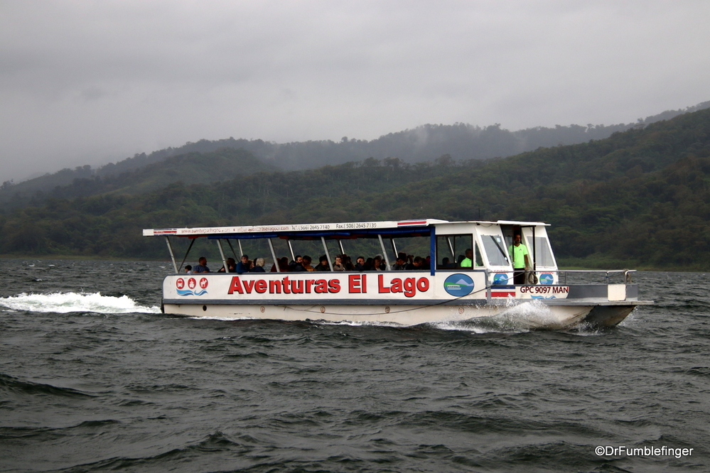 Boat cruise on Lake Arenal, Costa Rica