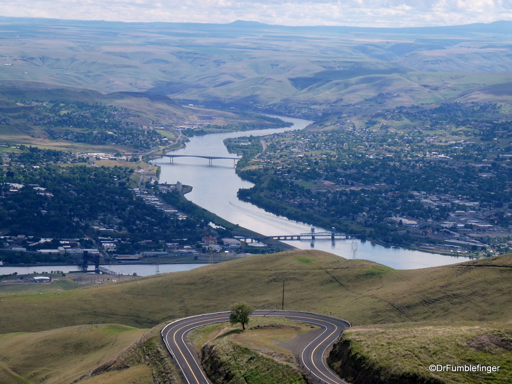 View of Lewiston and Clarkston from Lewiston Hill