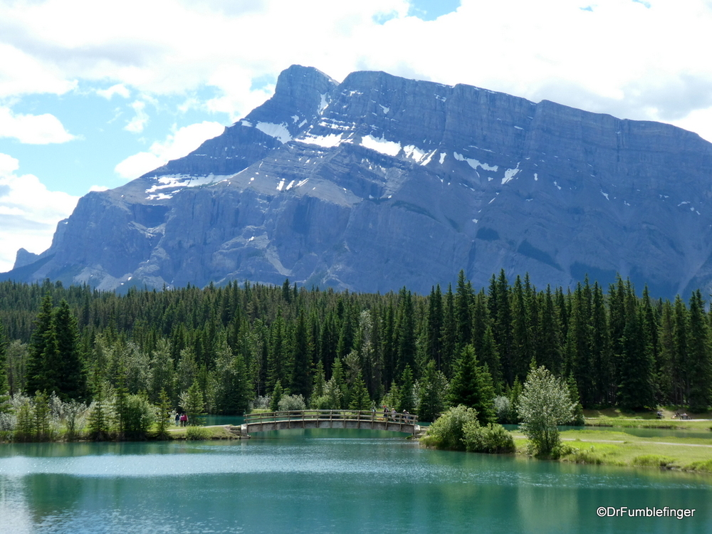 Cascade Pond framed by Mt. Rundle, Banff National Park